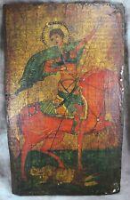 Antike Ikone Heiliger Demetrios / Dimitrios von Thessaloniki ~ 1900/1930