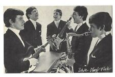 "DAVE CLARK FIVE   EXHIBIT CARD B & W   3 1/2"" X 5 1/2""  ARCADE"