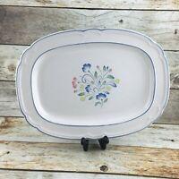 Hearthside Floral Expression Serving Platter Japan Pink Blue Floral Stoneware