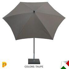Maffei ombrellone palo centrale Kronos Art.135-6 taupe poliestere d. 250 cm