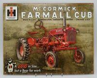 """McCormick Farmall Cub Tin Sign 16"""" W x 12.5"""" Reproduction Desperate Enterprises"""