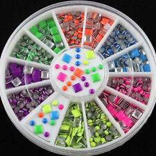 3D Nagel Art Acryl Straßsteine Glitter Strasssteine Nageldesign Dekor Wheel Set