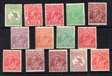 Australia KGV Head and Roo mint LHM collection WS14327