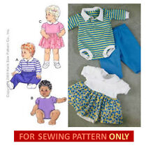 RETIRED SEWING PATTERN! MAKE BABY ROMPER~BODYSUIT~DRESS~PANTS! BOY~GIRL S~XL