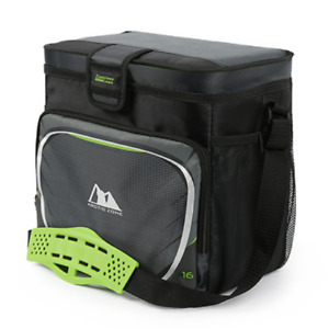 Arctic Zone 16 Can Zipperless Soft Sided Cooler with Hard Liner, Grey and Green