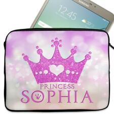 "Personalised Tablet Cover PRINCESS Neoprene Sleeve Case Girls 7"" - 10"" KS123"