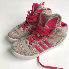best service 5ecb8 61d76 Adidas Jeremy Scott JS Small Pink Floral Print High Top Sneaker Shoes 5.5 US