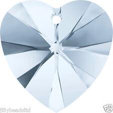 Swarovski 6228 Xilion Heart 14mm Pendant Crystal Blue Shade Pack of 2