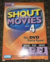 Shout About Movies Disc 4 DVD Trivia Family Quiz Film Sound Movies Game Sealed
