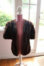 Vintage Cornelius Original Sydney Brown Mink Fur shawl