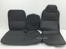 1995-2006 ISUZU NPR,NQR,GMC W-SERIES SEAT COVER FULL FRONT SET-VINYL-DARK GRAY