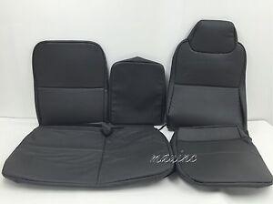 1995-2006 ISUZU NPR,NQR,GMC W-SERIES SEAT COVER FULL FRONT SET-VINYL-DARK GRAY