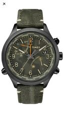 Timex Waterbury Camouflage Black Date GMT Textile/Leather Strap TW2R43200D7