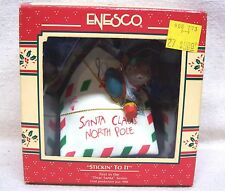 "Enesco Ornament #1 In The Dear Santa Series ""Stickin' To It"" 1989"