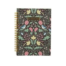 Classic Sass and Belle Midnight Garden Lined A5 Notebook Floral Design Gift Idea