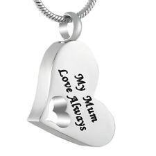 Cremation Memorial keepsake, My mum love always Pendant and Necklace for Ashes.