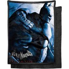 "Batman The Dark Knight Arkham City 46"" x 60"" Mink Sherpa Throw Blanket - New"