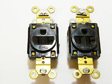 Two Hubbell 5361 Single Receptacles