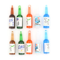5Miniature Wine Drink Bottle Beer Cups DollHouse Decoration Pretend Play Gift FE