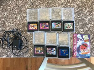 7 Sega Game Gear Games and Charger