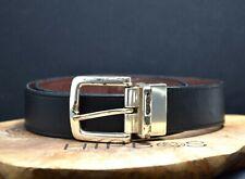 Fossil Vintage Reversible Mens Leather Belt Black / Brown Size 36