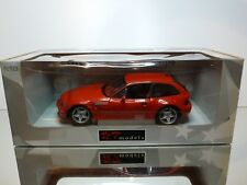 UT MODELS 20433 BMW Z3 M COUPE  - RED 1:18 VERY RARE - EXCELLENT IN BOX