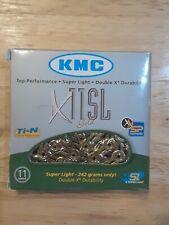 "New KMC X11SL 1/2""× 11/128""- 116links pin length 5.65mm. Gold"