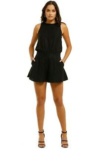 Grace Willow Gina Playsuit in Black Size 8