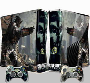 Xbox 360 Slim Console Skin Sticker Call of Duty Ghosts Vinyl Decal Sticker
