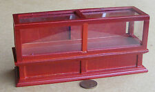 1:12 Scale Mahogany Colour Wood Shop Display Counter Dolls House Accessory 273m
