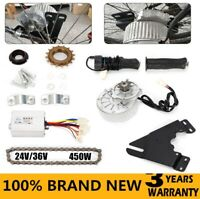 450W Electric Conversion Kit 24V/36V For Common Bike Left Chain Drive Custom