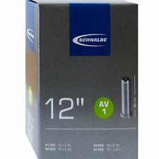 Schwalbe Fahrradschlauch AV 1 für 12 Zoll (47-62/203) mit Auto Ventil gerade