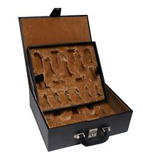 """Staunton Chess Presentation and Storage Box for 4.4"""" Chess Pieces"""