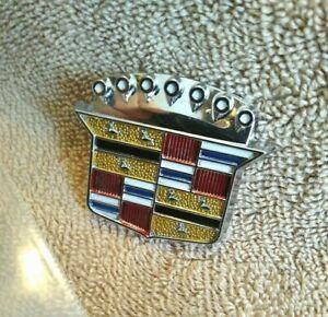 1971-1976 Cadillac Trunk Lid Lock Crest Emblem FLIP COVER ONLY - No Base-   *EC*