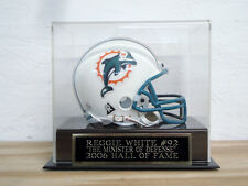 Football Mini Helmet Display Case With A Reggie White Packers Nameplate