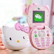 Carino Mini Hello Kitty Girl telefono K688+ Quad Band Cellulare Flip ragazze dei cartoni animati