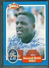 Roosevelt Brown Football Auto 1988 Phila Hall of Fame '91 Signature Autograph#20
