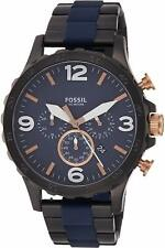 FOSSIL JR1494 Nate Blue Dial 50mm Chronograph Men's Watch