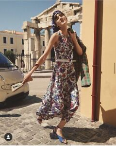 Scanlan Theodore Junky Print Dress Maxi Floral 2019 size 8 RRP $650