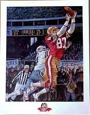 "DWIGHT CLARK SAN FRANCISCO 49ers ""THE CATCH""  LITHOGRAPH BY MERV CORNING"