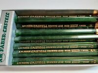 A.W. Faber Castell Drawing #9030 Refill Lead Germany Lot of 8 tubes 106 pcs
