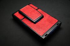 "Polaroid SX-70 Glazed Napa Cowhide Red ""Brush Strokes"" PolaSkinz SLR680"