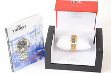 Tissot Bellflower 18k gold plated mesh rectangular quartz ladies watch NEW $4750