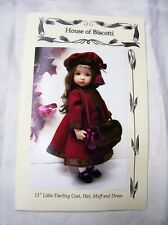 "Effner 13"" Little Darling PATTERN for Dress, Winter Coat, Muff and Hat"