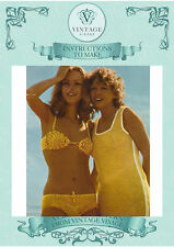 To Make- 2 Vintage crochet patterns to make fab mod bikini and beach coverup