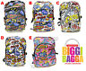 SUPER BOOM Comic RUCKSACK BACKPACK Chain Ladies WHITE BLACK GREY School Emo Bag
