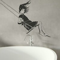 Girl On Swing - Giant Removable Wall Sticker / Large Vinyl Transfer Decor X67