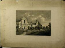Lithographie originale de Terry, Château de Ripaille