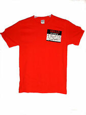 """NEW """" HELLO MY NAME IS  I DONT DO COSTUMES! """" SMALL HALLOWEEN T-SHIRT ORANGE"""