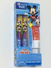 Crest Oral B Disney Junior Mickey Toothbrushes Fluoride Toothpaste Bubblegum